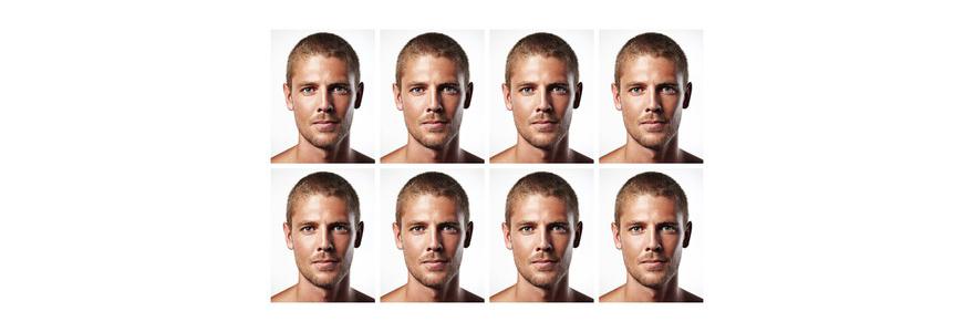 planche de photos d'identité